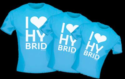 T-Shirt I-Love-Hybrid for Woman