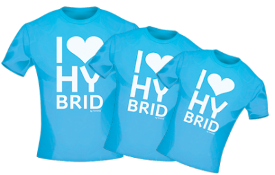 T-Shirt I-Love-Hybrid for Woman